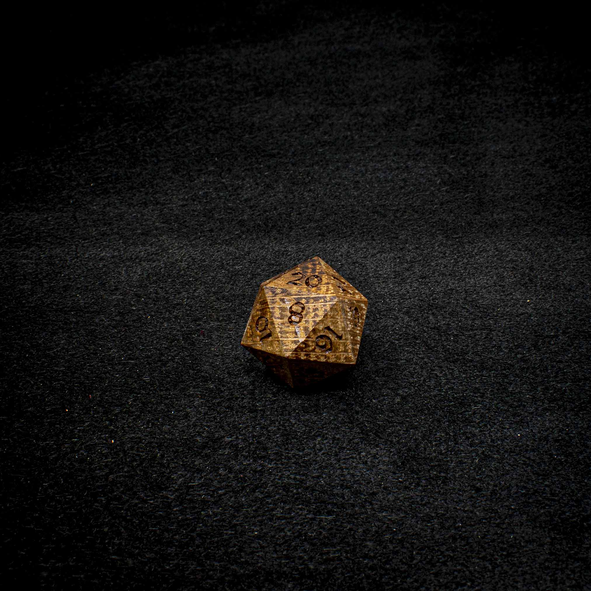 Jack Daniels Oak Twenty Sided Die (d20)