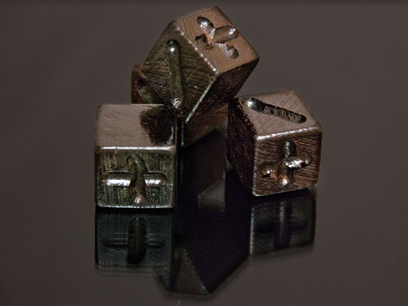 Wenge Wooden Fudge Dice