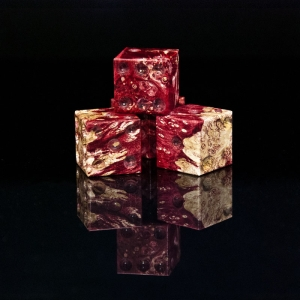 Box Elder Burl Dyed Wine Wooden Six Sided Dice (d6)