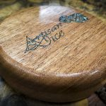 Bois De Rose with Abalone Inlay in an Africa Mahogony Box - Box Only