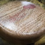 Bois De Rose with Copper Inlay in an Africa Mahogony Box - Box Only