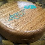 Bois De Rose with Turquoise Inlay in an Africa Mahogony Box - Box Only