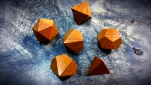 ancient kauri polyhedral dice
