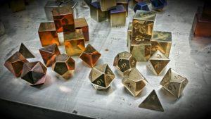 Bronze Dragon Polyhedral Set
