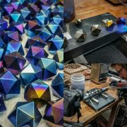 Titanium d20s Getting Their Dragon's Breath Finish