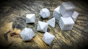 marble polyhedral dice set