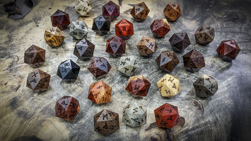 Assorted Runic d20