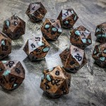 Banksia D20s with Turquoise Inlay