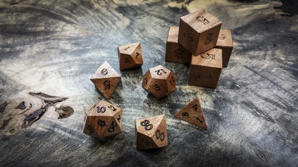 African Mahogany Polyhedral Dice B