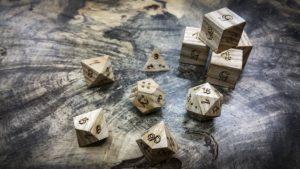 Ash Polyhedral Dice