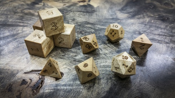 Avodire Polyhedral Dice