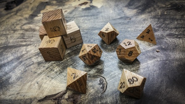Hickory Polyhedral Dice