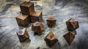 Laurel Negro Polyhedral Dice