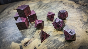 Purple Heart Polyhedral Dice