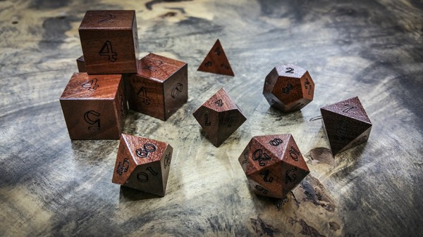 Quina Polyhedral Dice