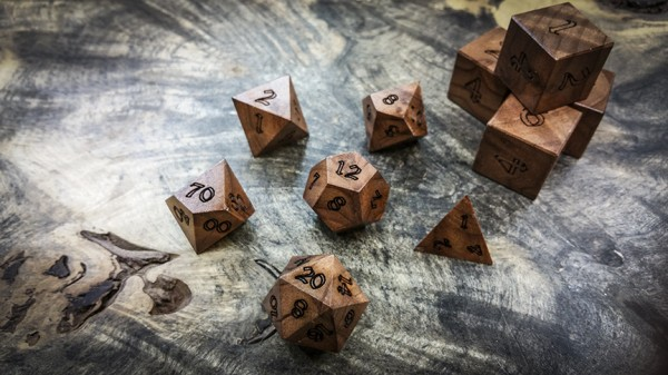Redwood Polyhedral Dice