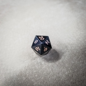 Bison d20 w/ Bronze Inlay