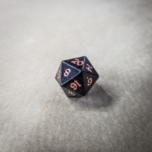 Bison d20 w/ Copper Inlay