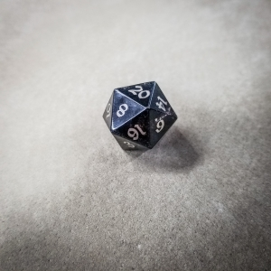 Bison d20 w/ Nickel Silver Inlay