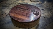 Teak and East Indian Rosewood Dice Box