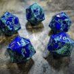 Lapis Lazuli and Malachite d20s