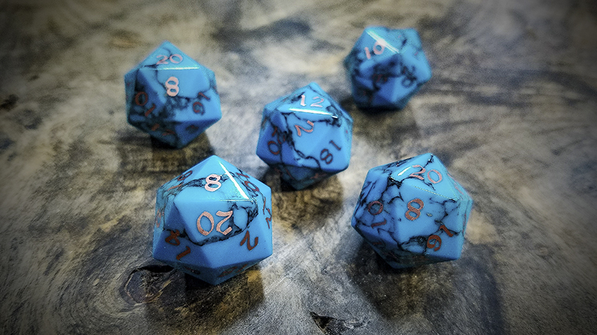 Sleeping Beauty Turquoise D20s