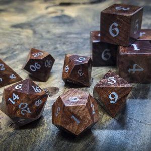 Redwood Burl Polyhedral Set Inlaid with Alumnium