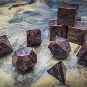 Redwood Burl Polyhedral Set Inlaid with Electrum