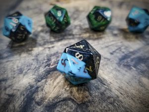 Turquoise and Jet Beta D20