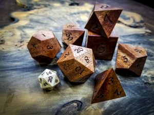 Big Ass Dice in African Mahogany