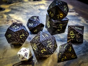 Big Ass Dice in Black Palm Wood inlaid with Brass
