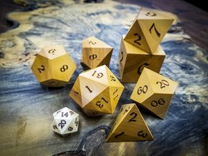 Big Ass Dice in Ivory Wood