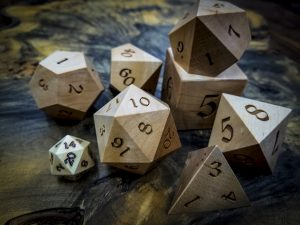 Big Ass Dice in Maple