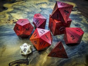 Big Ass Dice in Red Heart