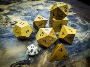 Big Ass Dice in Yellow Heart