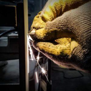 hand grinding titanium