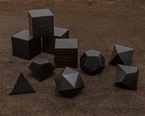 African Blackwood Polyhedral