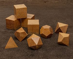 African Pear Wood Polyhedral