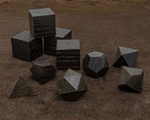 Ancient Bog Oak Polyhedral