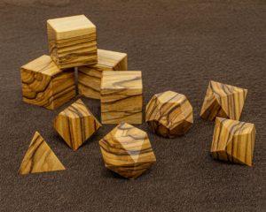 Bethelham Olive Wood Polyhedral