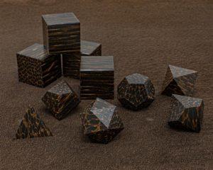 Black Palm Wood Polyhedral