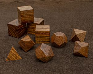 Black Posion Wood Polyhedral