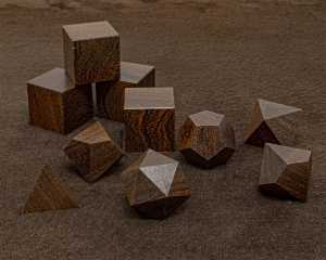 Brown Ebony Polyhedral