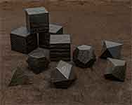 Icons Ancient Bog Oak Polyhedral