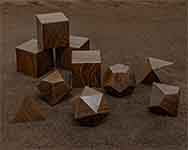 Icons Brown Ebony Polyhedral