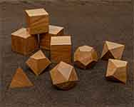 Icons Bullet Wood Polyhedral