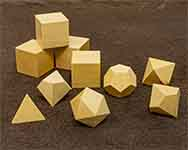 Icons Ivory Wood Polyhedral