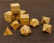 Icons Mediterranean Olive Wood Polyhedral