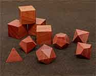 Icons Pink Ivory Polyhedral