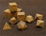 Icons Red Palm Wood Polyhedral